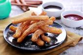 Spanish tapas churros — Stock Photo
