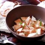 Spanish desserts pomelo meringue — Stock Photo #71739631