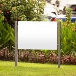 Blank billboard, for advertisement — Stock Photo #74967511