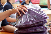 Sorting process of clothing products — Stock Photo