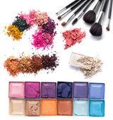 Blush on brush — Stock Photo