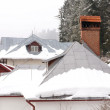 Roofs in the mountain under the snow — Stock Photo #54972625