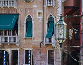 Decorated Glass Lantern in Venice — Stock Photo