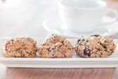 Healthy cookies with coffee cup — Stockfoto