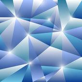 Motif géométrique avec fond bleu triangles — Vecteur