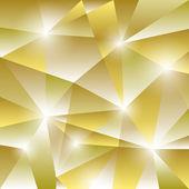 геометрический образец с золотым фоном треугольников — Cтоковый вектор