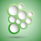 Fond de bulle abstraite discours vert — Vecteur