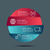 Vector circle banners infographic template — Cтоковый вектор