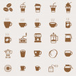 Coffee color icons on light background — Stock Vector #68808101