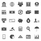 Banking icons on white background — Stock Vector