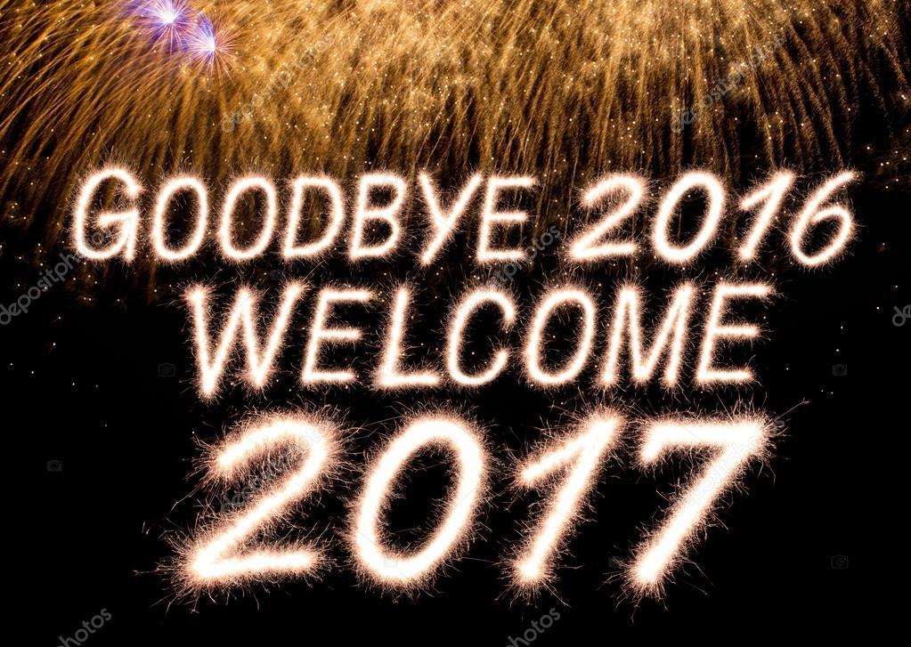 Vaarwel verwelkomen 2016 2017 — Stockfoto © studio306stock ...