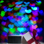Gift box bokeh — Stock Photo #63040755