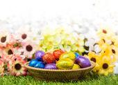 Velikonoční koš — Stock fotografie