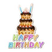 Birthday cake. — Stock Vector