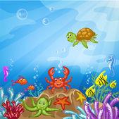 Illustration of the underwater world — Stock Vector