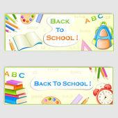 Zpátky do školy nápisy — Stock vektor