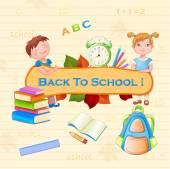 Back to school illustration . — Stock Vector