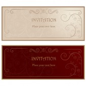 Invitation cards . — Stock vektor