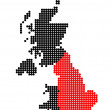 Постер, плакат: Map of United Kingdom with map of England