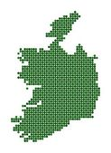 Map of Republic of Ireland — Stock Vector