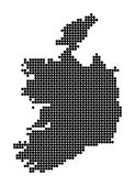 Stylized map of Republic of Ireland — Stock Vector