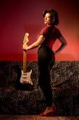 Pin Up with Guitar — Stock Photo