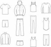 Sport clothes — Stock Vector