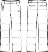 Down pants — Stock Vector