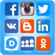 Social networking applications on Apple iPhone — Stock Photo #52767747