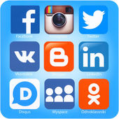 Social networking applications on Apple iPhone — Stockfoto