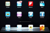 Icons of most popular applications on Apple iPad — Stock Photo