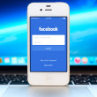 Facebook Login page on Apple iPhone display — Stock Photo #57074065