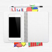 Arbetsplatsen med digitala tablett — Stockfoto