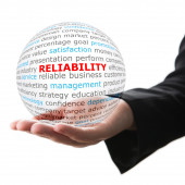 Concept of reliability in business — Stock Photo