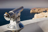 Telescope at lighthouse Sao Vicente, Sagres Portugal — Stock Photo