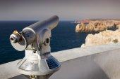 Telescope at lighthouse Sao Vicente, Sagres Portugal — Fotografia Stock