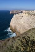 Coast with cliffs in Sagres at Algarve in Portugal — Stock Photo