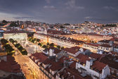 Lisbon city at night from above — Stock Photo