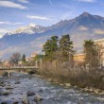 Merano during winter,South Tyrol, Italy — Stock Photo #66569647