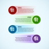 Glossy round infographic options — Stock Vector