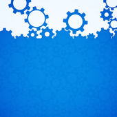 Abstract blue simple gear background — Vecteur