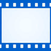 Simple blue film strip background — Stock Vector