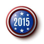 Ano novo botão. botão de eleição — Vetor de Stock