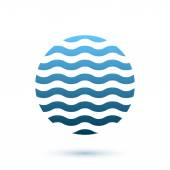 Abstract wavy round conceptual icon, sphere — Stock Vector
