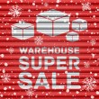 Winter warehouse super sale — Stock Vector #58577183