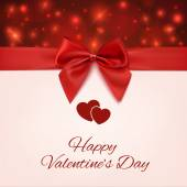 Valentines Day greeting card. — Vecteur