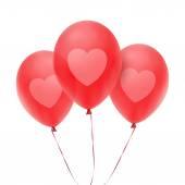 Tre röda ballonger — Stockvektor