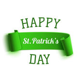 Saint Patricks Day greeting card. Background template — Stock Vector