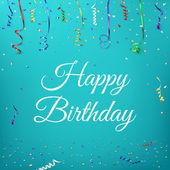 Happy birthday celebration background. — Stock Vector