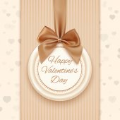 Happy Valentines day greeting card. — Stock Vector
